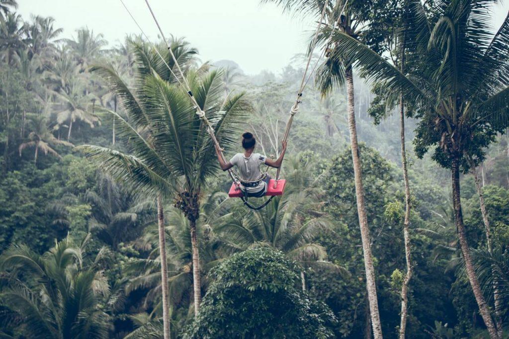Een Bali swing in Indonesië