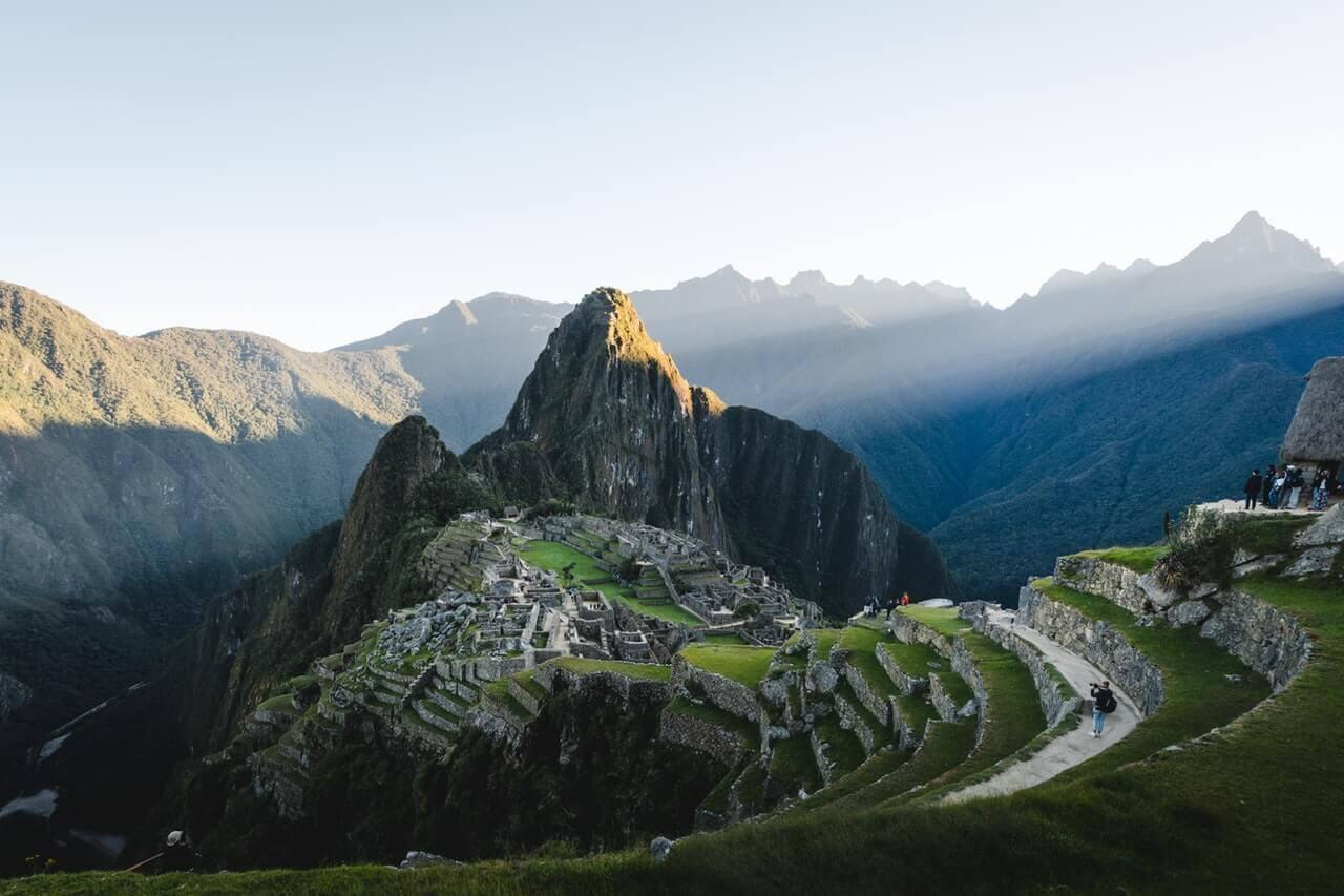 Een afbeelding van Machu Pichu in Peru
