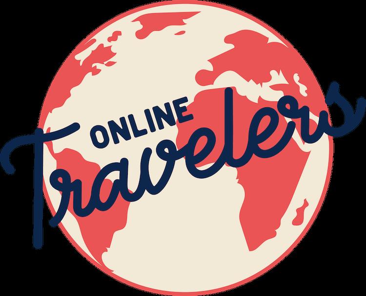 Het logo met beeldmerk van OnlineTravelers