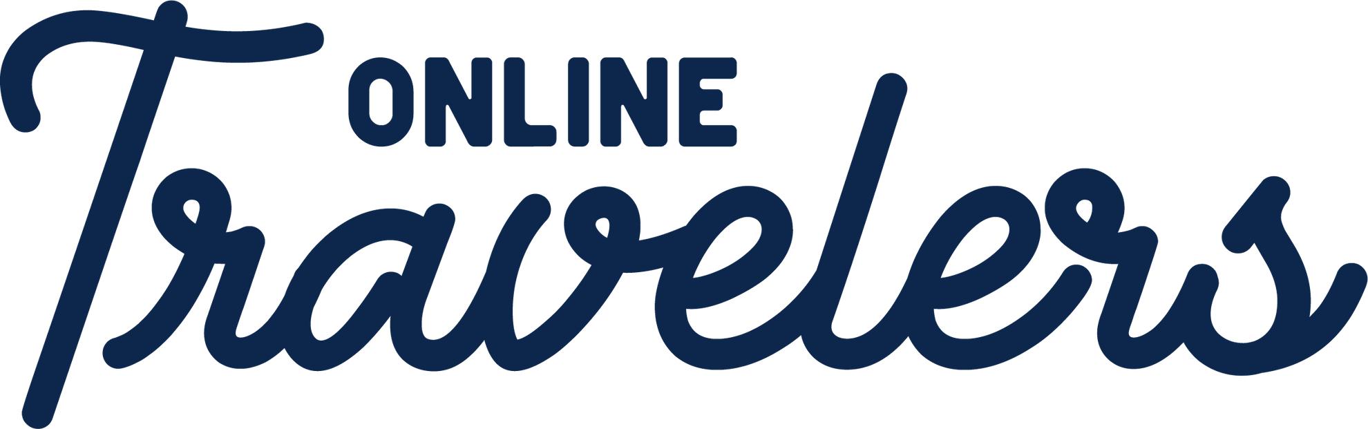 Logo tekst in het blauw van OnlineTravelers