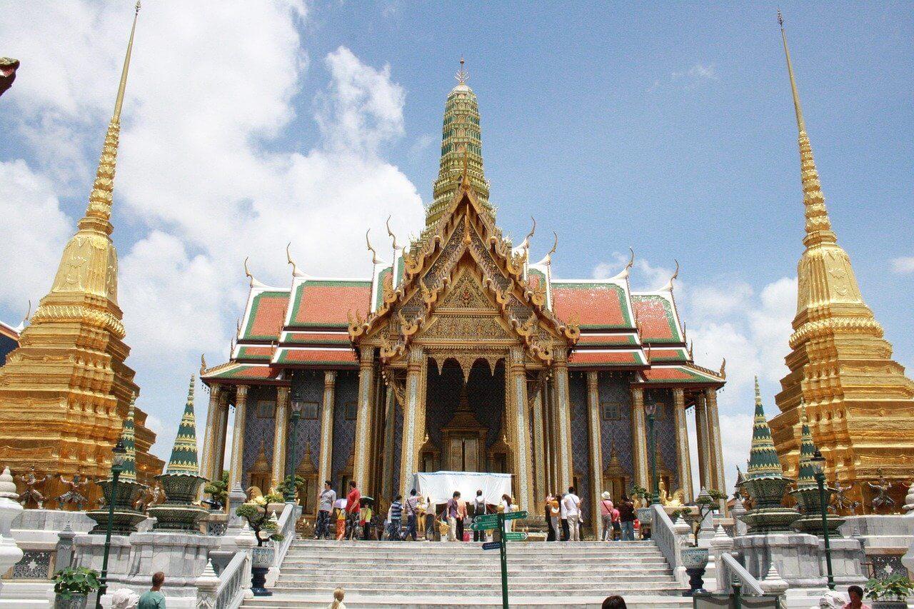 Grand Palace in Bangkok met uitzicht op het paleis